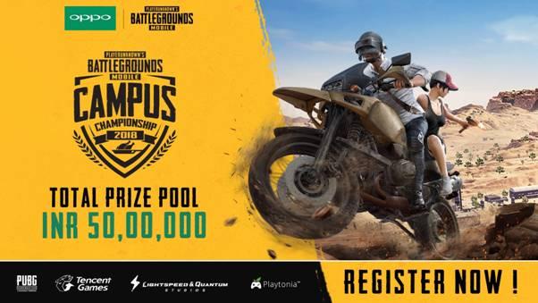Tencent Games announces India's biggest eSports Tournament-PUBG MOBILE Campus Championship 2018
