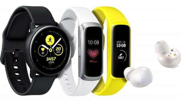 Samsung Galaxy Watch Active, Galaxy Fit and Galaxy Buds