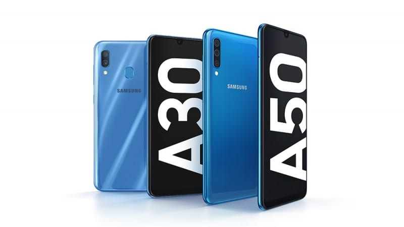 Samsung Galaxy A10, A30, and A50