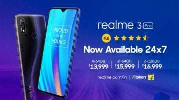 Realme 3 Pro goes on open sale in India