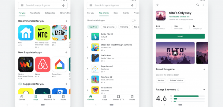 Google Play Redesign
