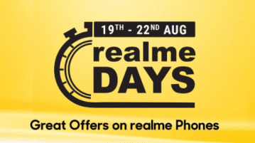 Realme Days on Flipkart