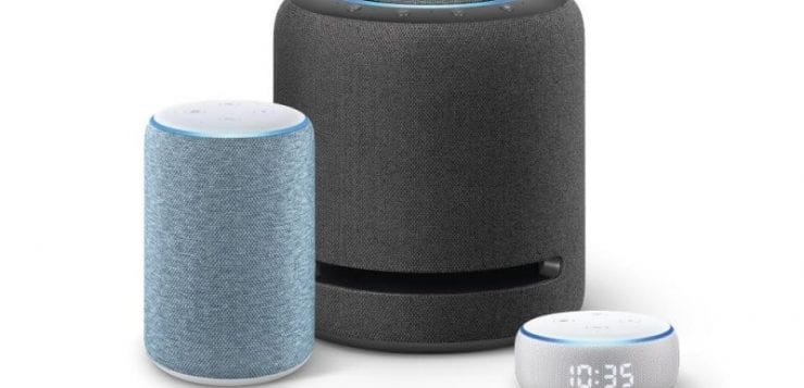 Echo Dot with Clock, New Echo, and Echo Studio