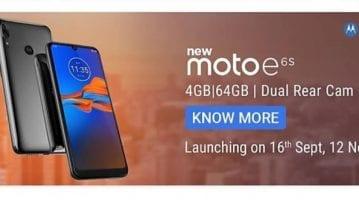 Moto E6S