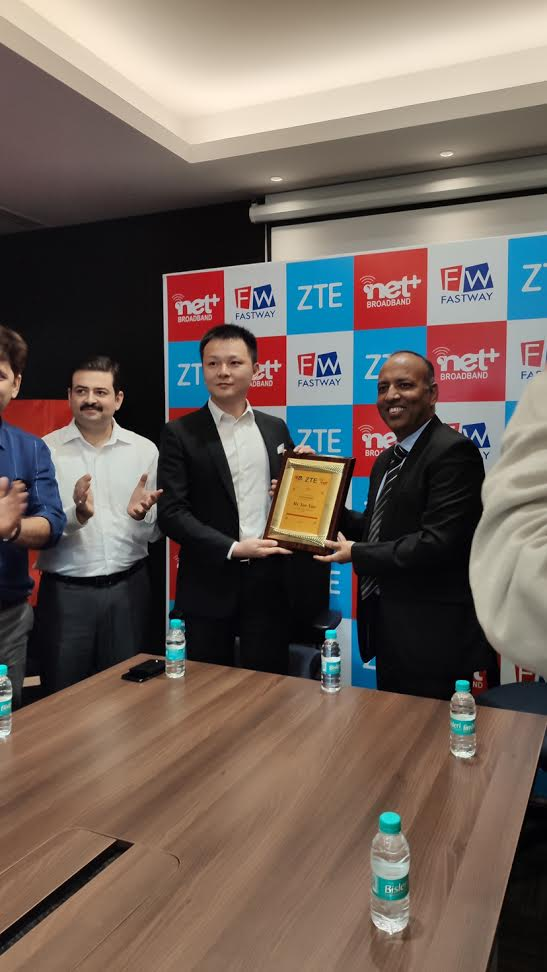 ZTE India Collaborates with Fastway Transmissions to Rollout IPTV solution