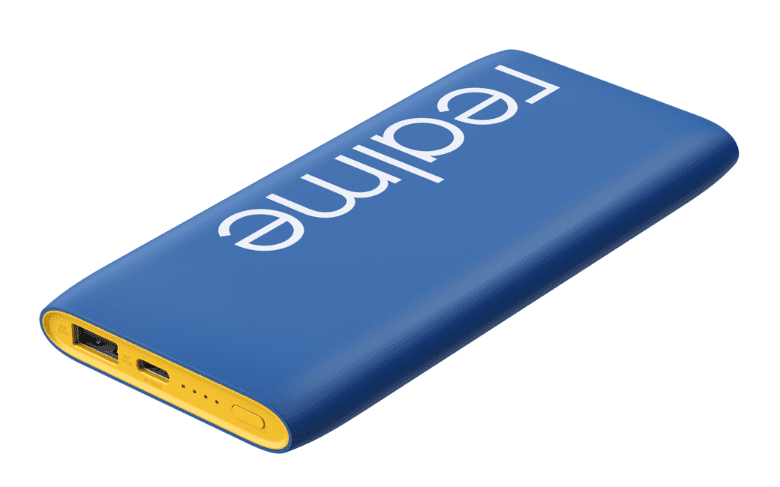 Realme Power Bank Classic Blue and Realme Buds Air Iconic Cover
