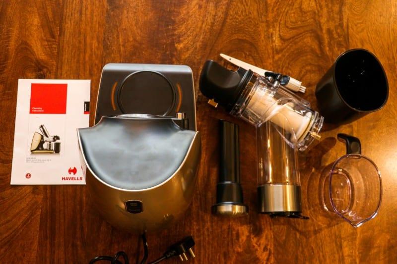 Havells Nutri Art Slow Juicer - Box Contents