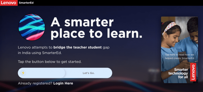 Lenovo launches SmarterEd education platform to fix decreasing student-to-teacher ratio due to COVID-19