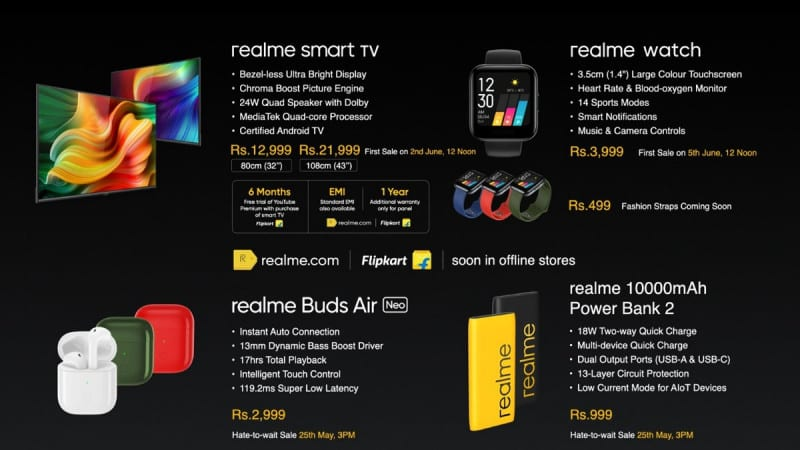 will go on sale at 12 noon on June 5th on realme.com