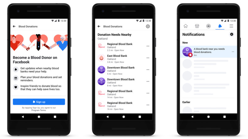 Facebook announces Blood Donation tool