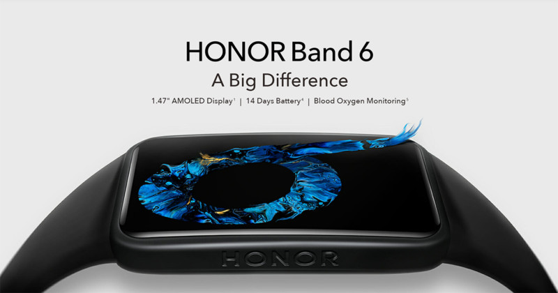 Honor Band 6 with an AMOLED