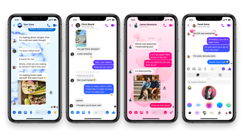 Facebook Messenger gets Updated themes