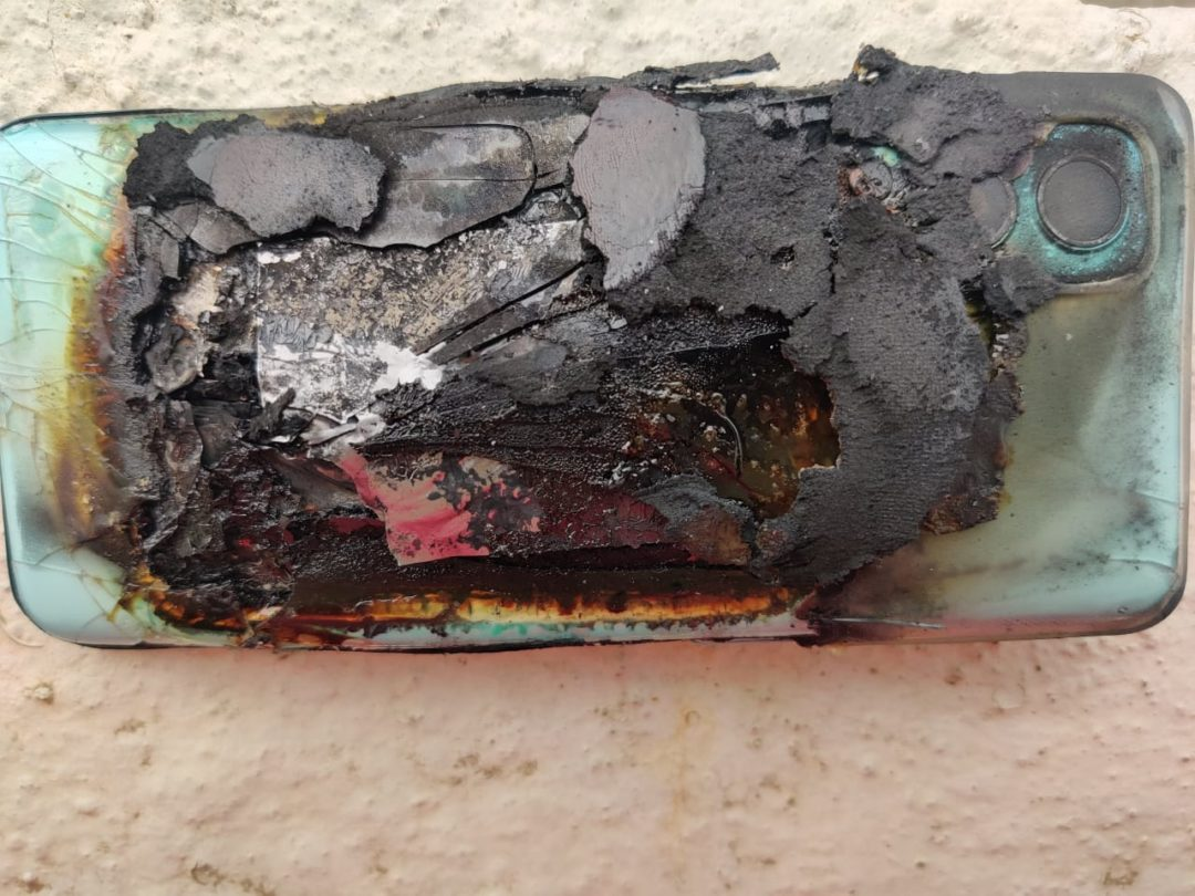 Twitter user shares that his OnePlus Nord 2 blasted and caught fire