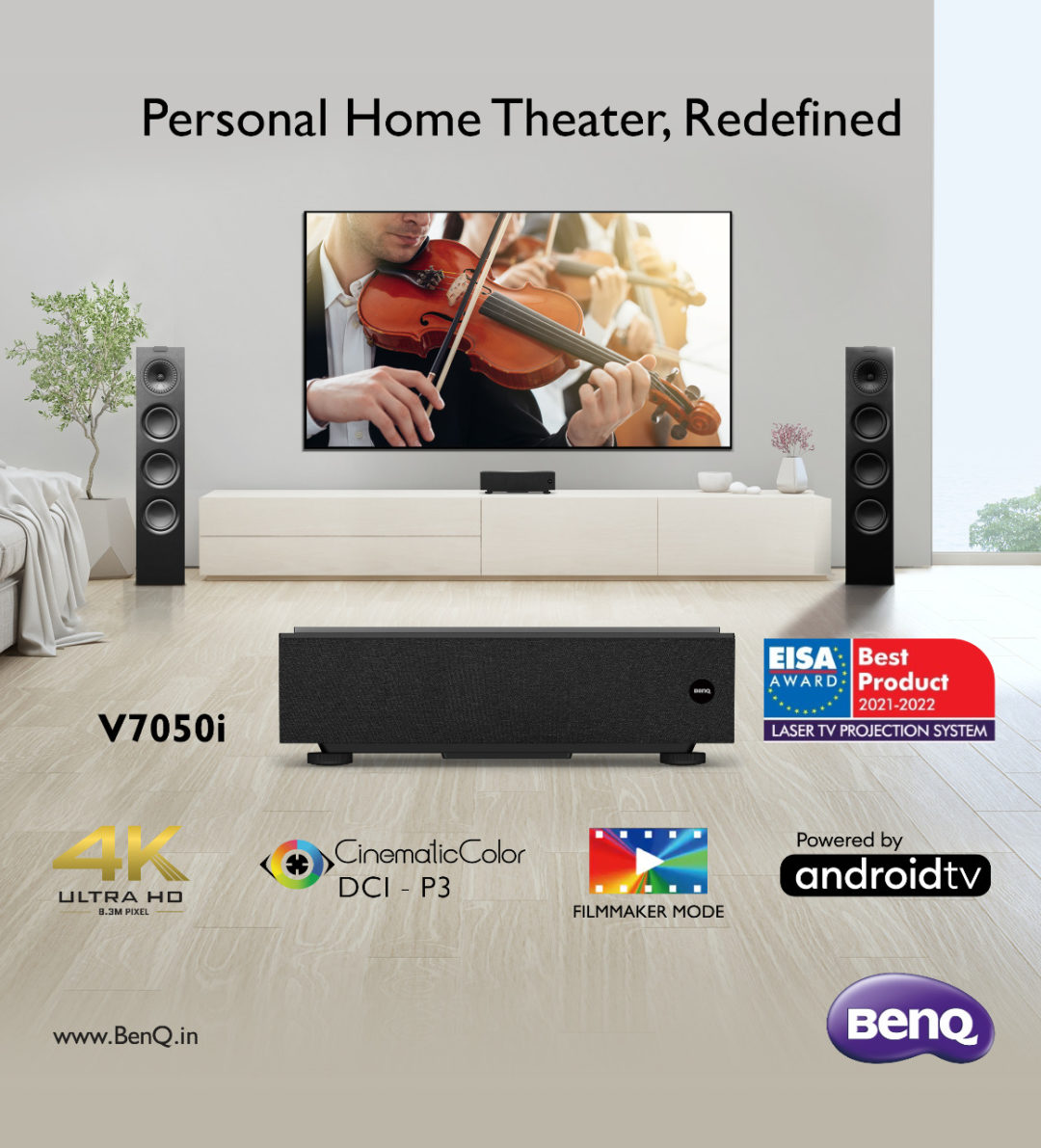 BenQ launches their V7050i 4K Laser TV Projector in India